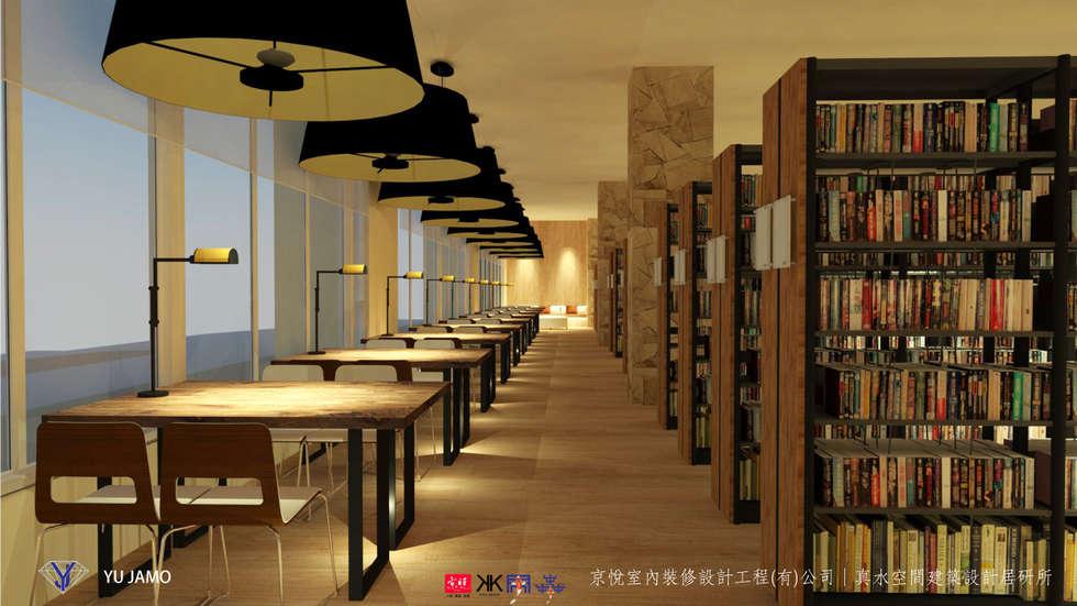NTUS Library大學圖書館設計案 - 京悅設計:  客廳 by 京悅室內裝修設計工程(有)公司 真水空間建築設計居研所