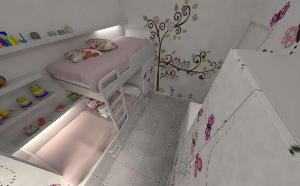 Habitación de Niñas : Habitaciones para niñas de estilo  por Aida Tropeano & Asoc.