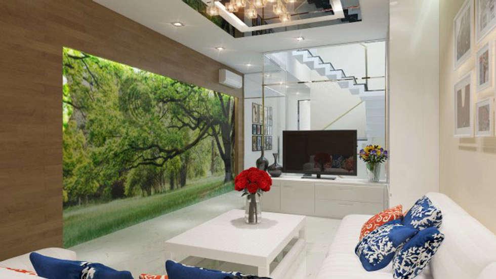 Phối cảnh nội thất tầng 2:  Đồ điện tử by Công ty TNHH Xây Dựng TM – DV Song Phát