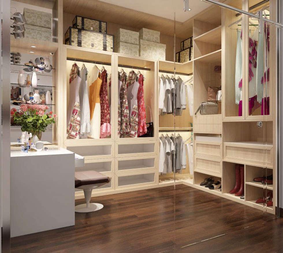 Phối cảnh nội thất tầng 3:  Phòng thay đồ by Công ty TNHH Xây Dựng TM – DV Song Phát