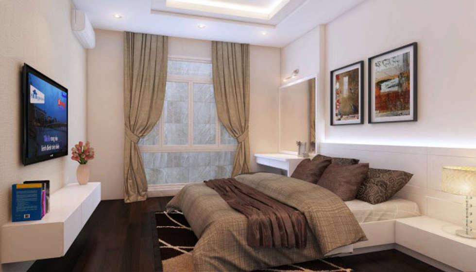 Phối cảnh nội thất tầng 4:  Phòng ngủ by Công ty TNHH Xây Dựng TM – DV Song Phát