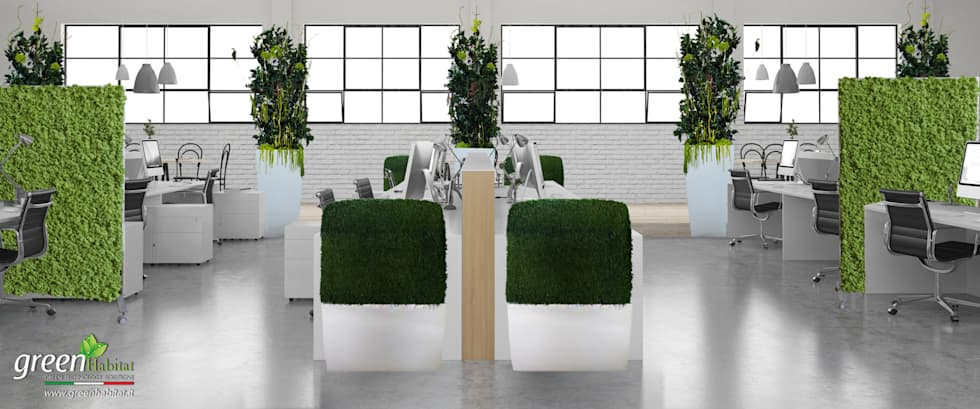 VERDE STABILIZZATO UFFICI OPEN SPACE: Complessi per uffici in stile  di Green Habitat s.r.l.
