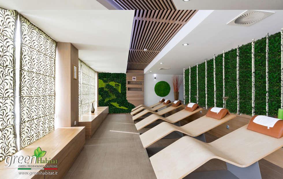 CENTRO BENESSERE PARETI VERDI: Bagno in stile in stile Rustico di Green Habitat s.r.l.