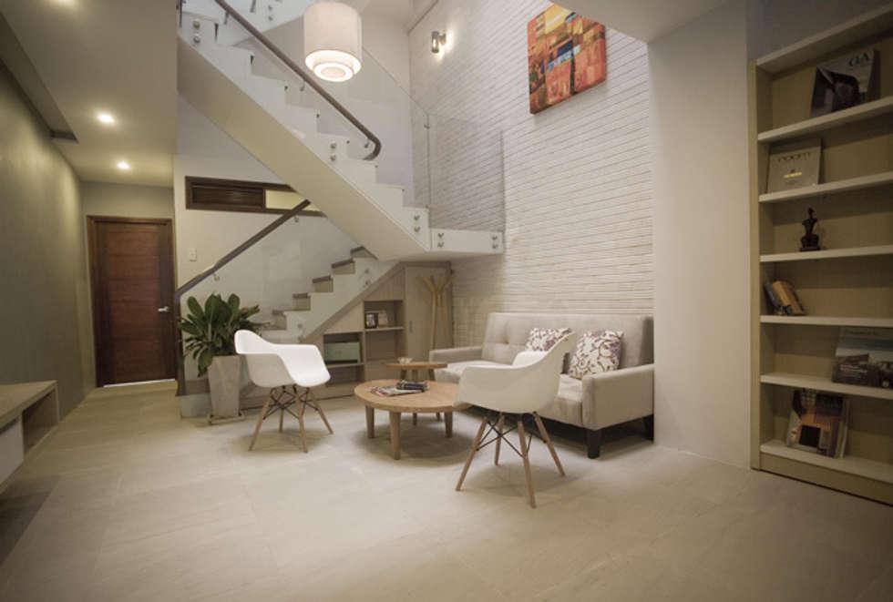 Sự kết nối liền mạch giữa các phòng chức năng:  Phòng khách by Công ty TNHH Xây Dựng TM – DV Song Phát