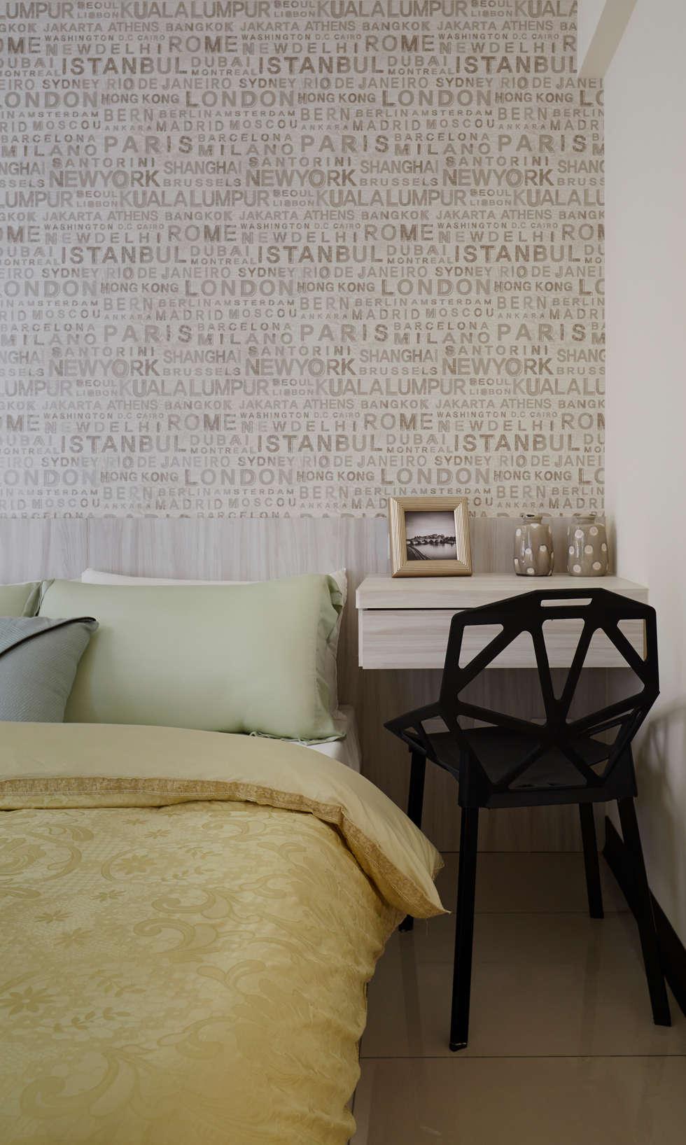 主臥室以浪漫情調為主軸:  飯店 by 雅和室內設計