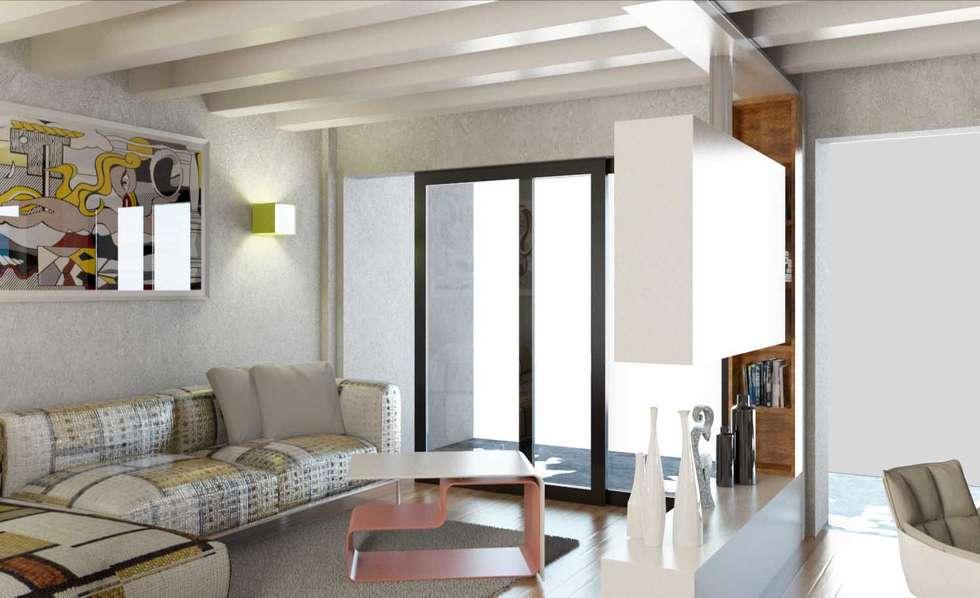 soggiorno: Soggiorno in stile in stile Moderno di 2mgdesignsolution