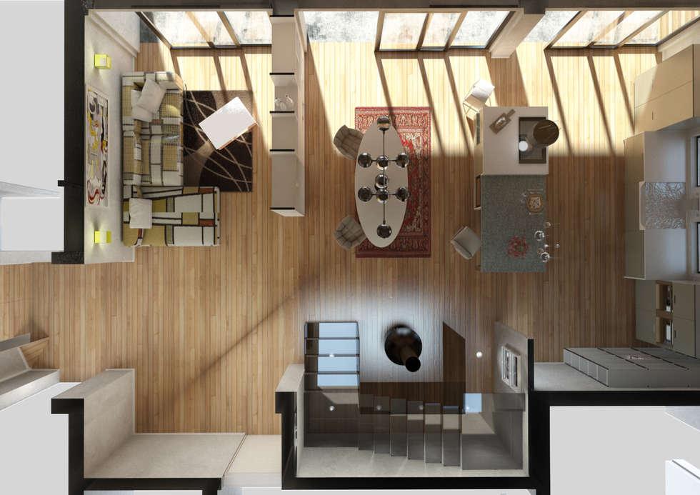 pianta: Cucina in stile in stile Moderno di 2mgdesignsolution