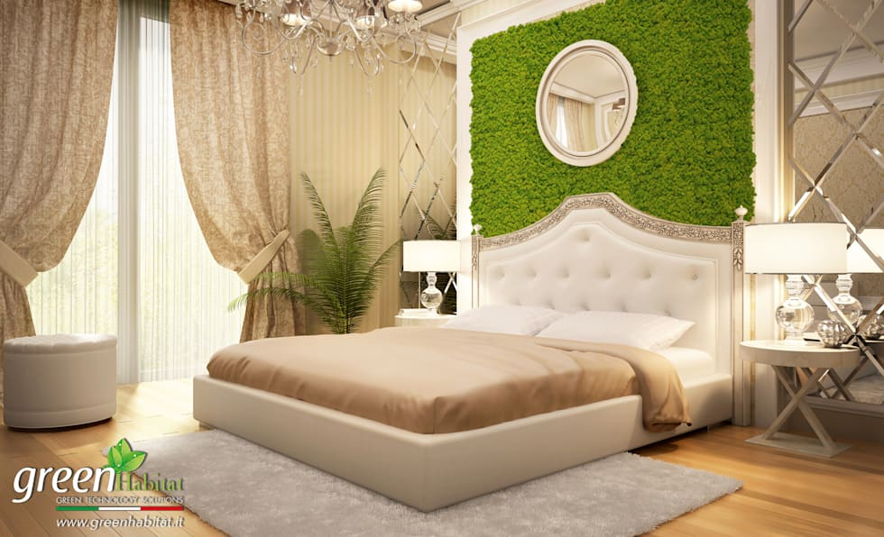 CAMERA DA LETTO GREEN: Hotel in stile  di Green Habitat s.r.l.