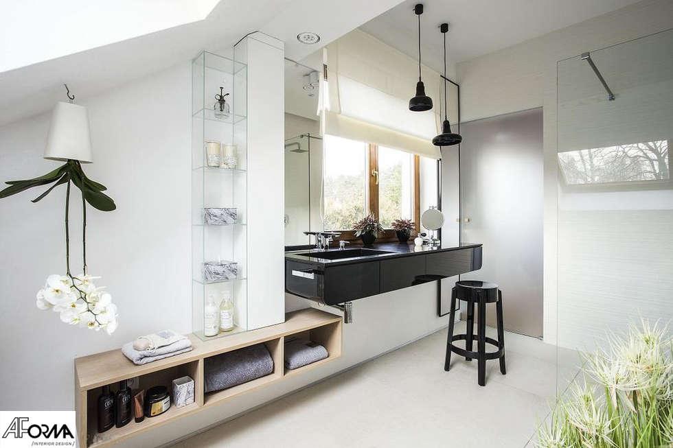 modern Bathroom by AFormA Architektura wnętrz Anna Fodemska