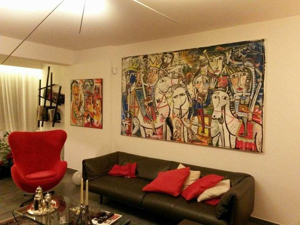 Quadro per arredamento soggiorno moderno: soggiorno in stile in ...