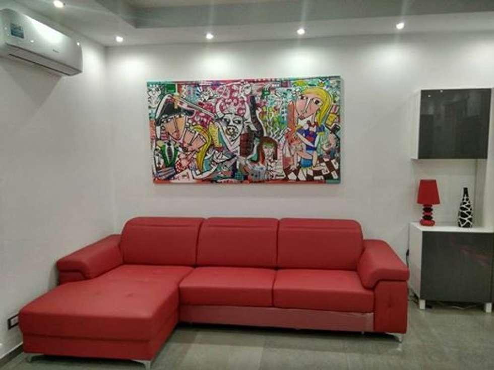 Dipinti Per Soggiorno : Dipinto moderno per soggiorno arte in stile di quadri moderni di