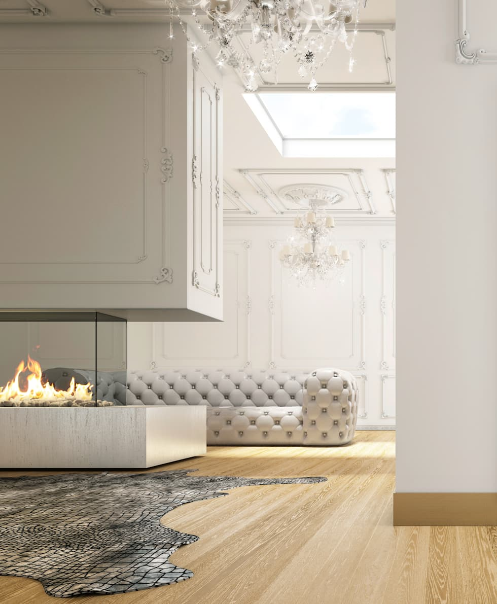 stylist and luxury tile floor designs for living rooms. classic Living room by Jessica Romagnoli  Interior Design styling Ideas Redecorating Remodeling Photos homify