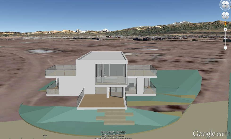 Google Earth: Casas unifamiliares de estilo  por Sinapsis Estudio