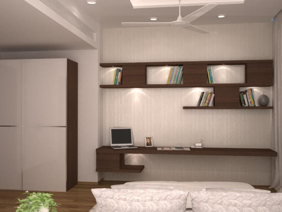 Study Table And Ledge Modern Bedroom By Nvt Quality Build Solution