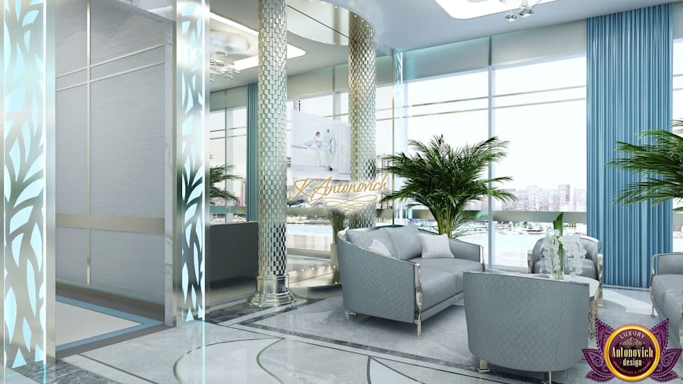 Office Design Concepts By Katrina Antonovich: Modern Study/office By  Luxury Antonovich Design