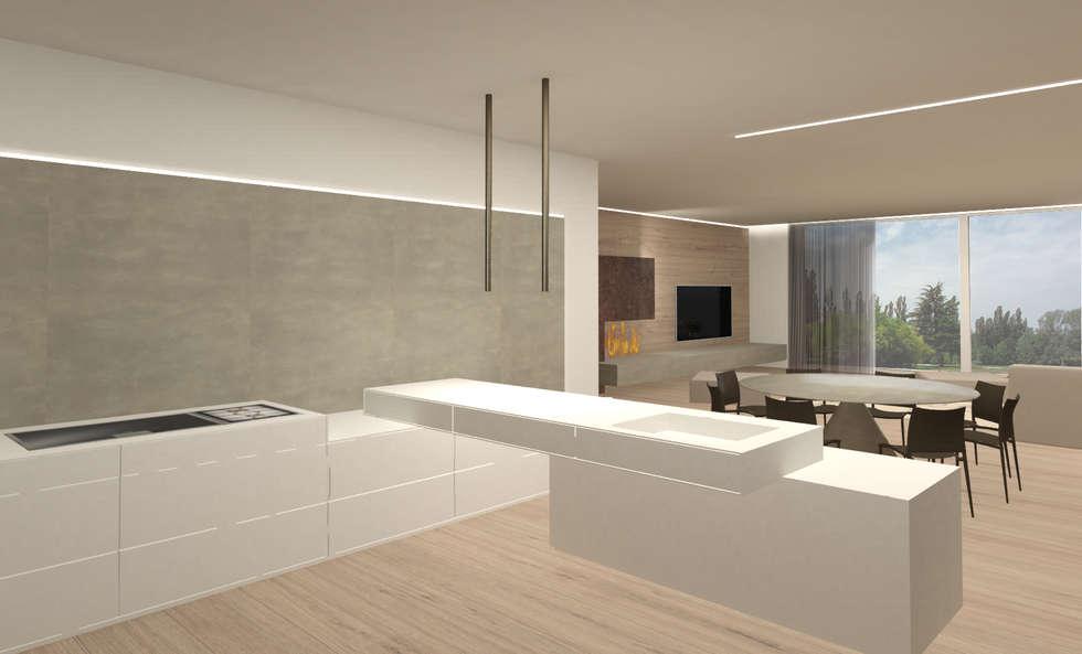 cucina: Cucina in stile in stile Moderno di Giemmecontract srl.