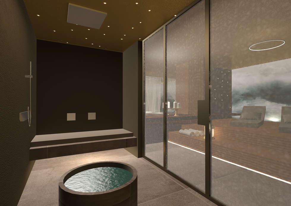 spa-bagno turco: Spa in stile in stile Moderno di Giemmecontract srl.