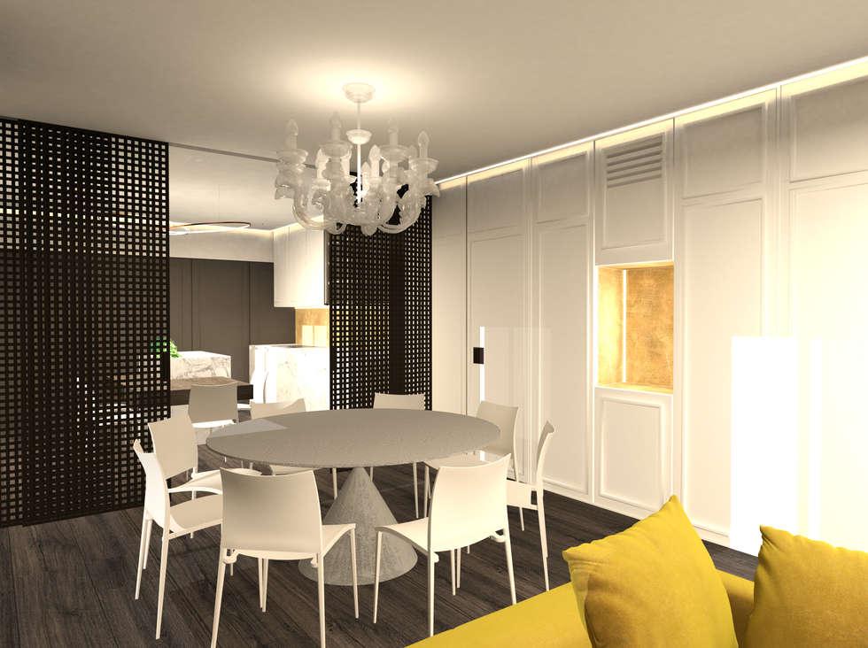 tavolo da pranzo: Sala da pranzo in stile in stile Moderno di Giemmecontract srl.