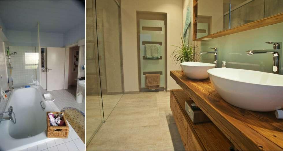 Badezimmer in wiesbaden mit altholz: moderne badezimmer von ...