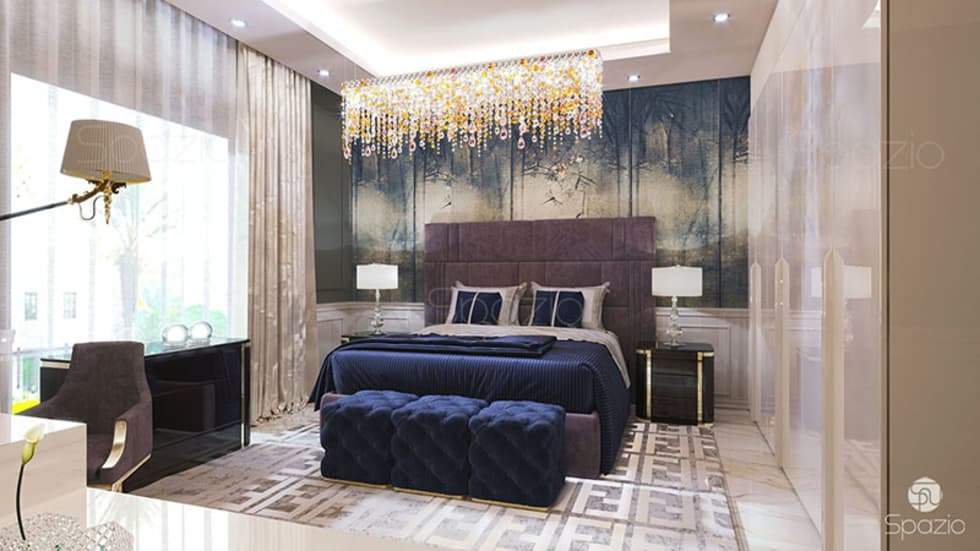 eclectic Bedroom by Spazio Interior Decoration LLC