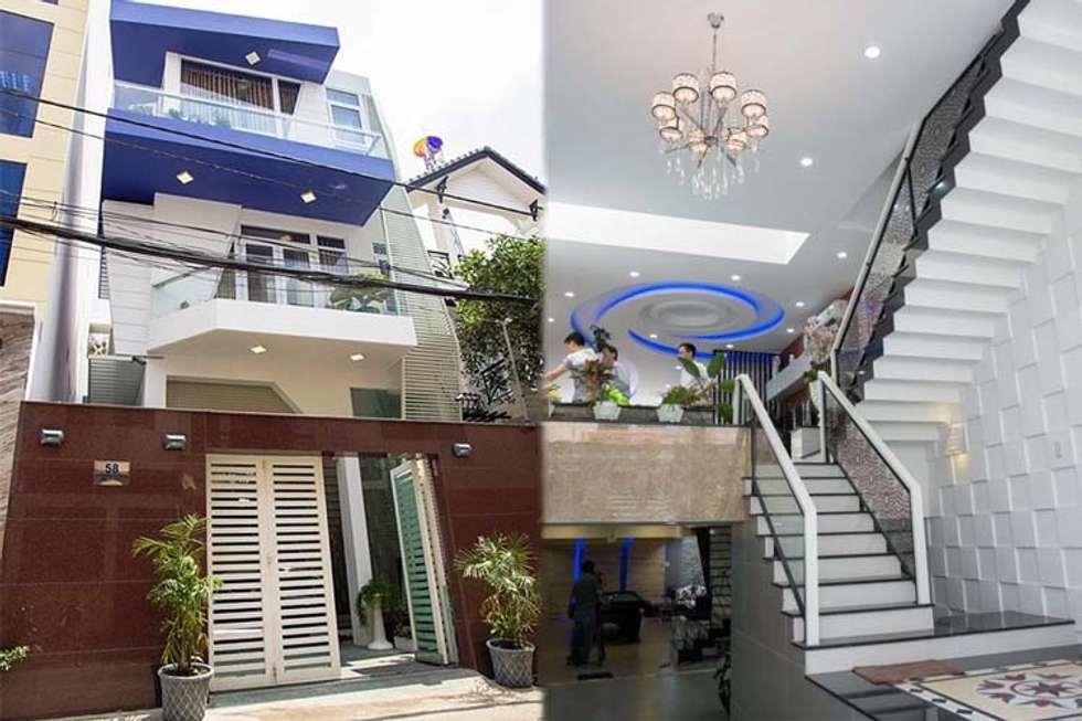 Bố cục không gian ngôi nhà phố 3 tầng:  Nhà by Công ty TNHH Xây Dựng TM – DV Song Phát