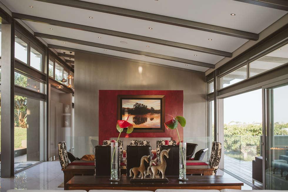 House BellaVida, Salt Rock, South Africa  : modern Living room by Hugo Hamity Architects
