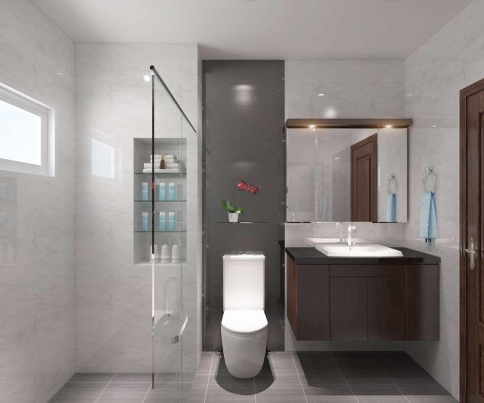 Hình ảnh 3D thiết kế nội thất :  Phòng tắm by Công ty TNHH Xây Dựng TM – DV Song Phát