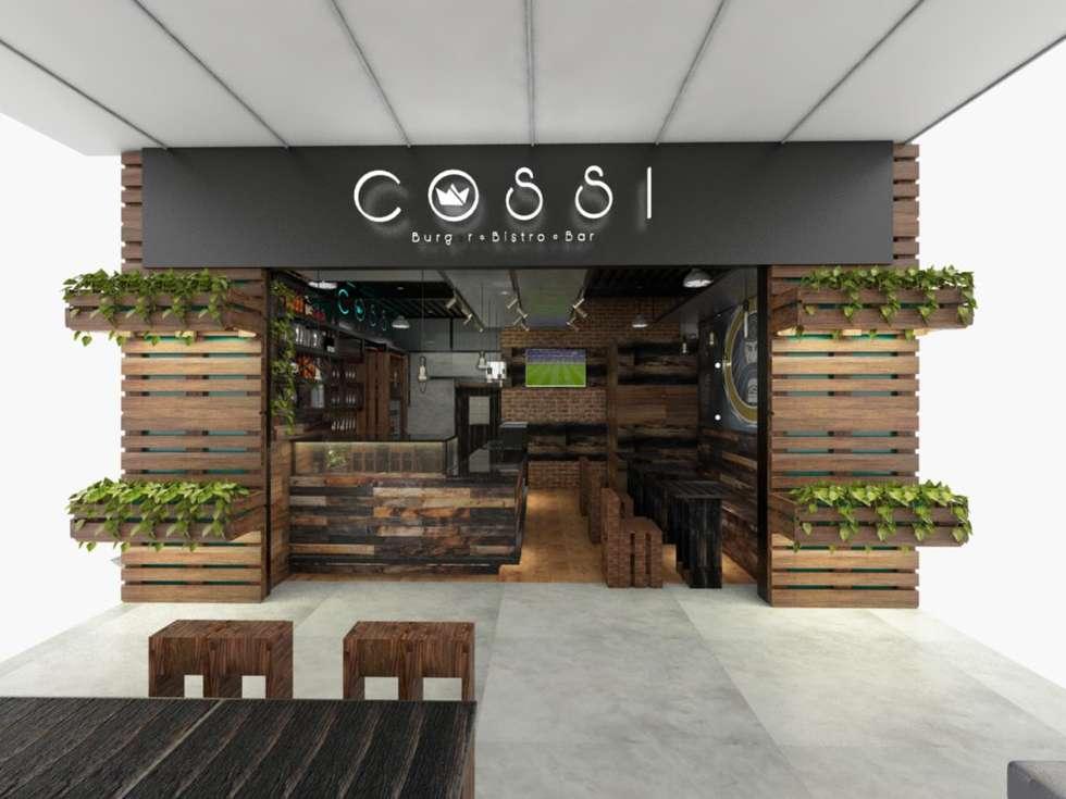 Fachada Comercial: Restaurantes de estilo  por MAHO arquitectura y diseño, C.A