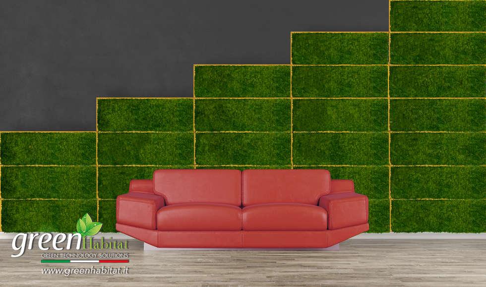 VARIETÀ PRODOTTI, DALLE PARETI VERTICALI AI COMPLEMENTI D'ARREDO: Pareti in stile  di Green Habitat s.r.l.