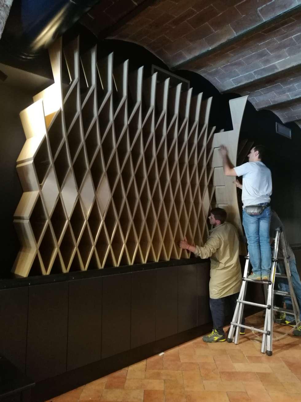 DURANTE I LAVORI: Sala da pranzo in stile in stile Moderno di Studio Bennardi - Architettura & Design