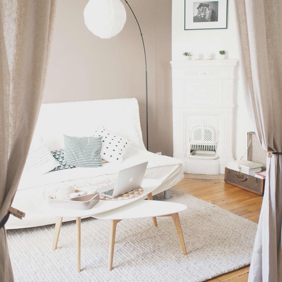 Salon: Salon de style de style Scandinave par B.Claire.full Design