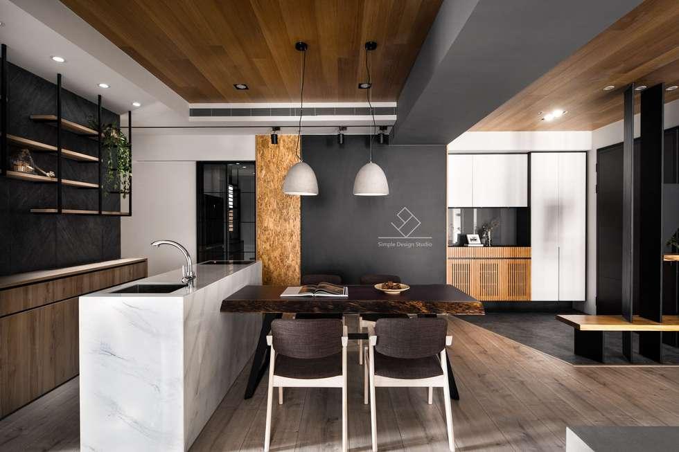 用餐空間:  餐廳 by 極簡室內設計