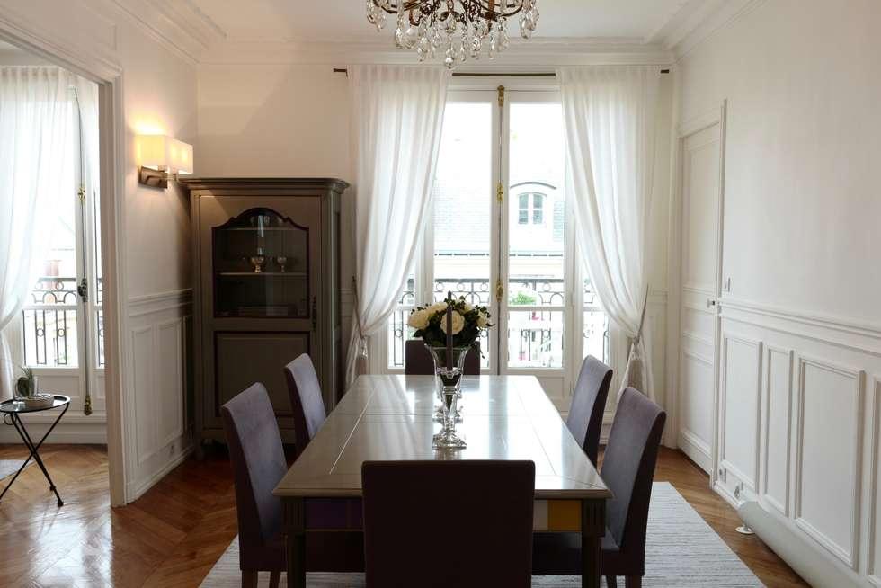 Parisian chic decoration and design: Salle à manger de style de style Moderne par Lichelle Silvestry