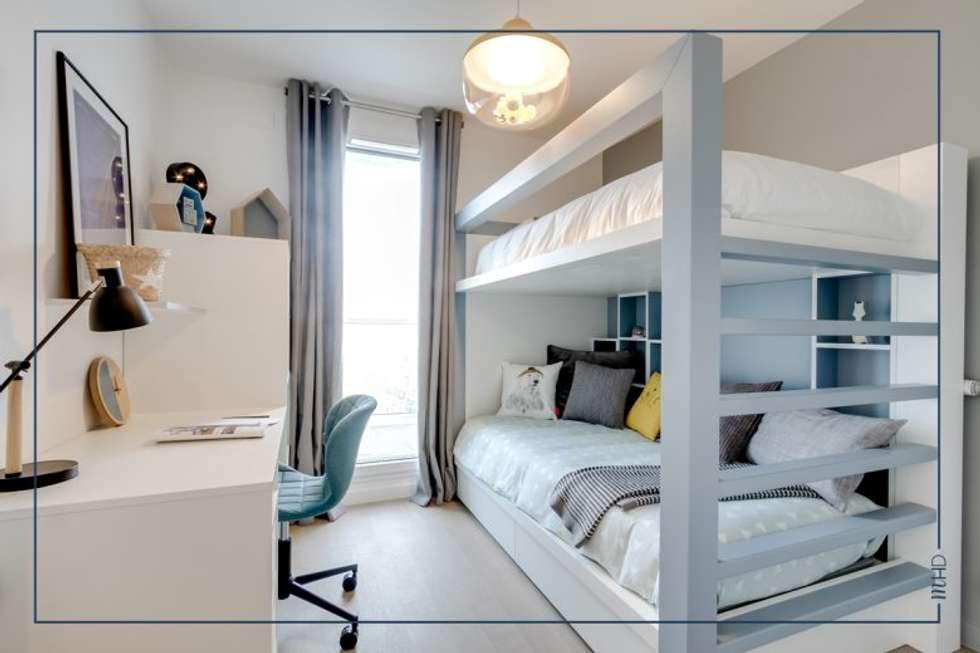 Un 63m2 en VEFA twisté à Paris: Chambre d'enfant de style de style Moderne par MY HOME DESIGN