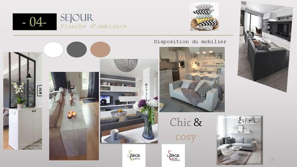 PLANCHE TENDANCE SEJOUR: Salle à manger de style de style Scandinave par S'PACE HABITAT / S'PACE HOME DESIGN