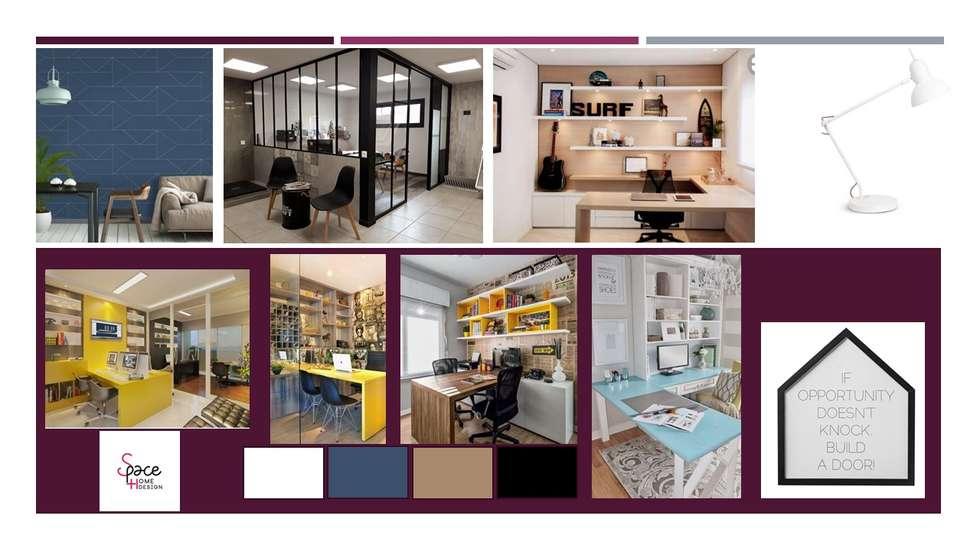 PLANCHE TENDANCE BUREAU COMMERCIAL: Bureau de style de style Moderne par S'PACE HABITAT / S'PACE HOME DESIGN