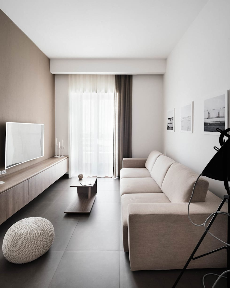 salotto: Soggiorno in stile in stile Moderno di manuarino architettura design comunicazione