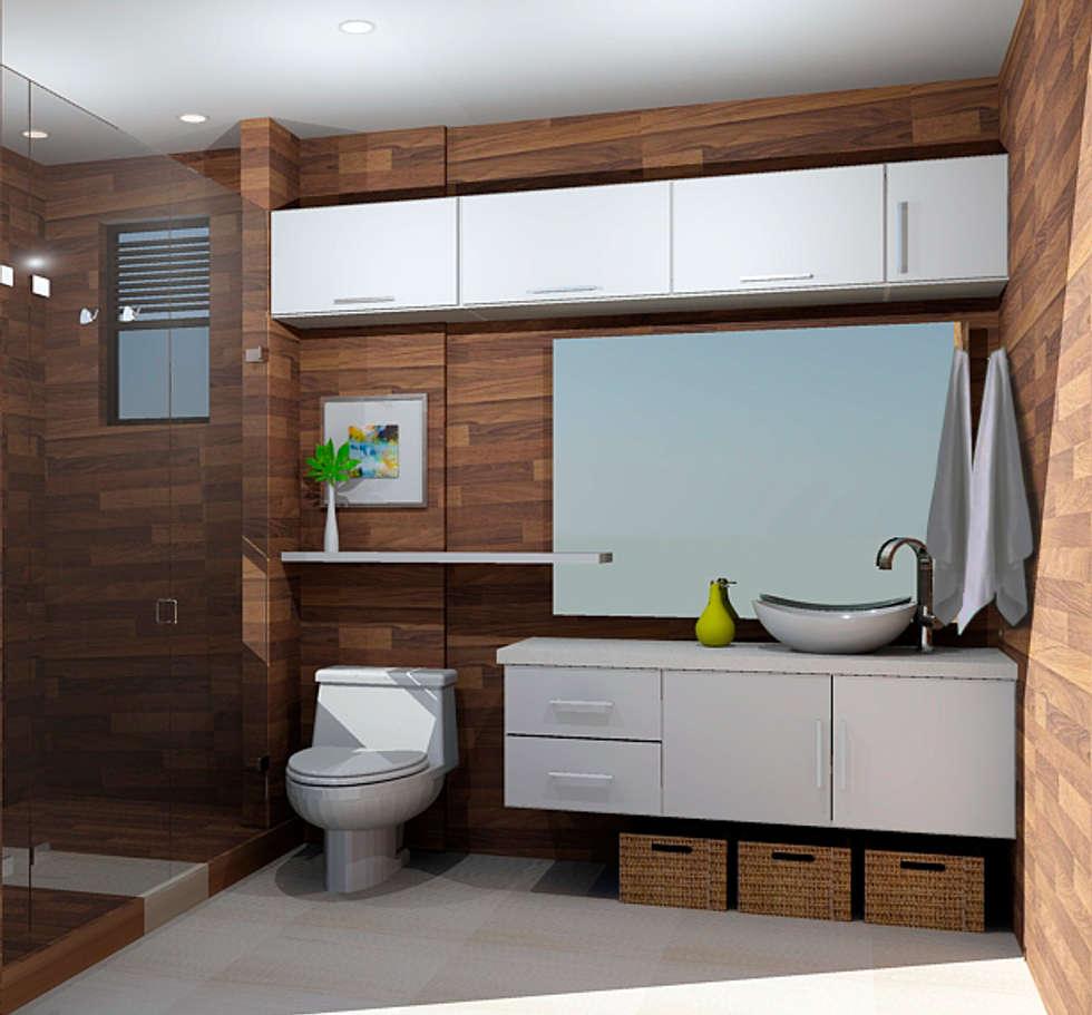 Propuesta baño: baños de estilo moderno por omar interior designer ...