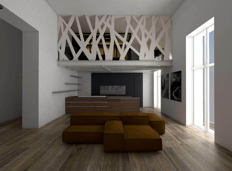 living: Soggiorno in stile in stile Moderno di GradoZero