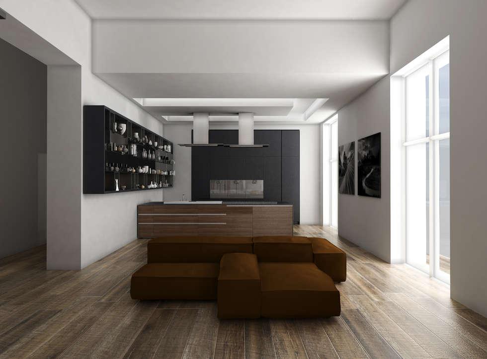 living opzione 2: Soggiorno in stile in stile Moderno di GradoZero