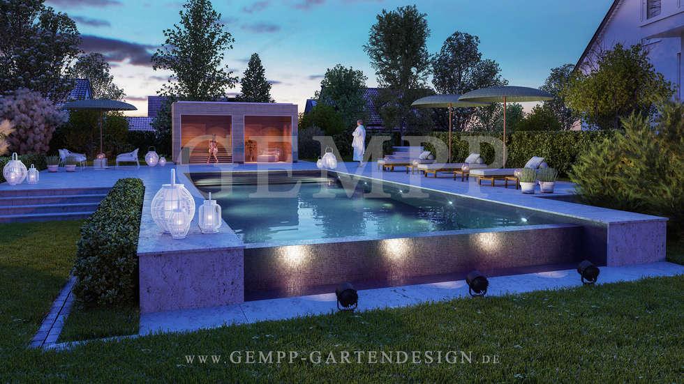 Fesselnd Moderne Gartengestaltung Mit Pool: Moderner Garten Von GEMPP GARTENDESIGN    Gartenplanung Gartengestaltung Landschaftsbau