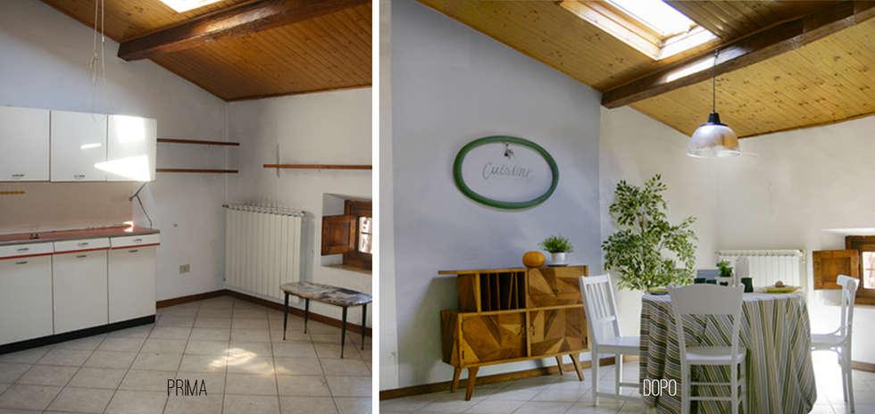 Home staging dal sapore vintage.: Cucina in stile in stile Moderno di Rifò
