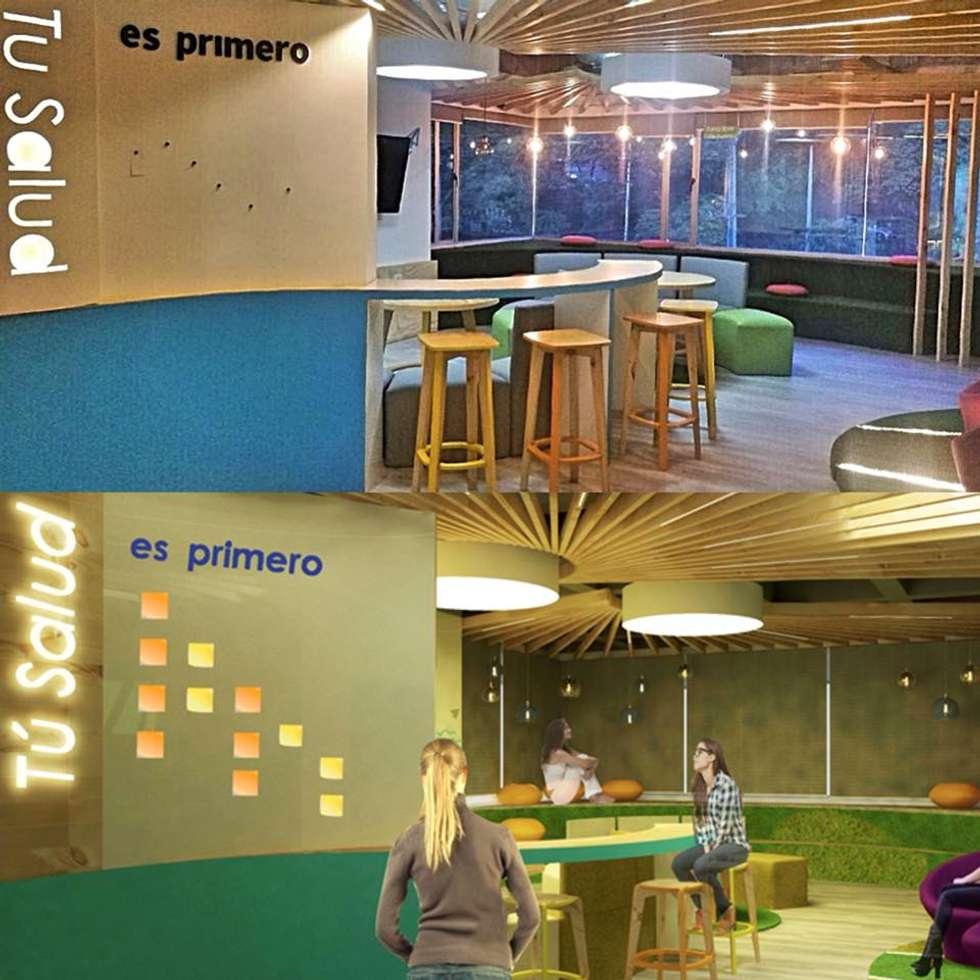 RENDER VS REALIDAD: Oficinas y Tiendas de estilo  por Aluzina