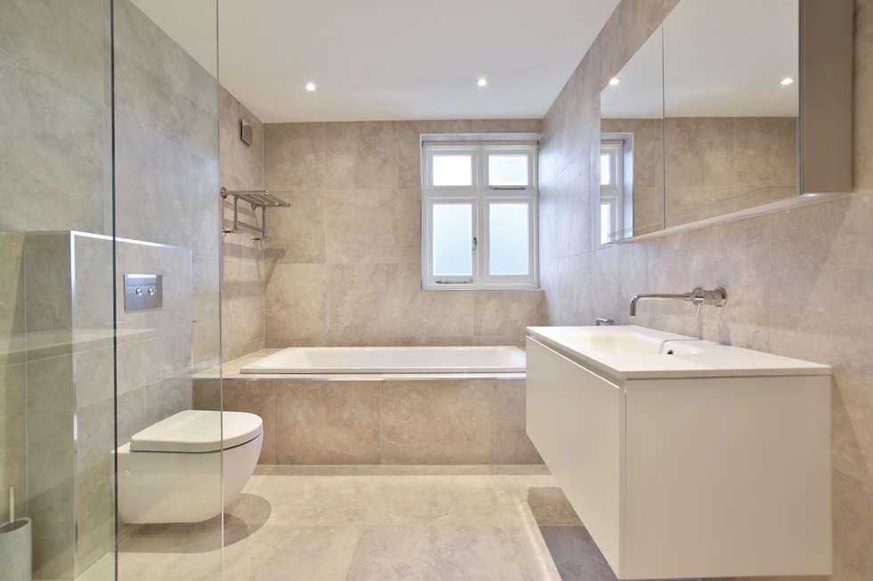 Case Study: Surrey: modern Bathroom by BathroomsByDesign Retail Ltd