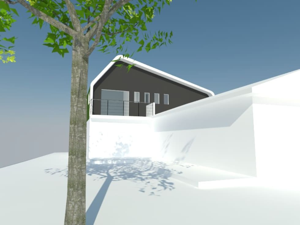 1: Dormitorios de estilo minimalista por OMD Arquitectos