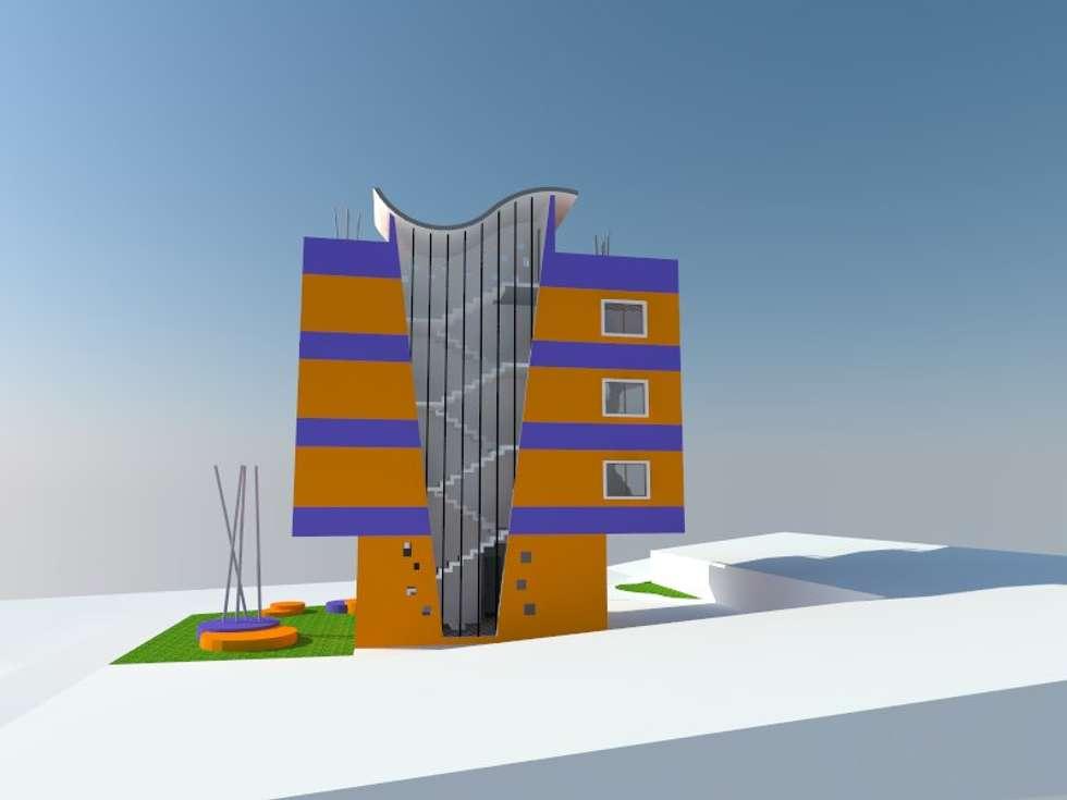 3: Viviendas colectivas de estilo  por OMD Arquitectos