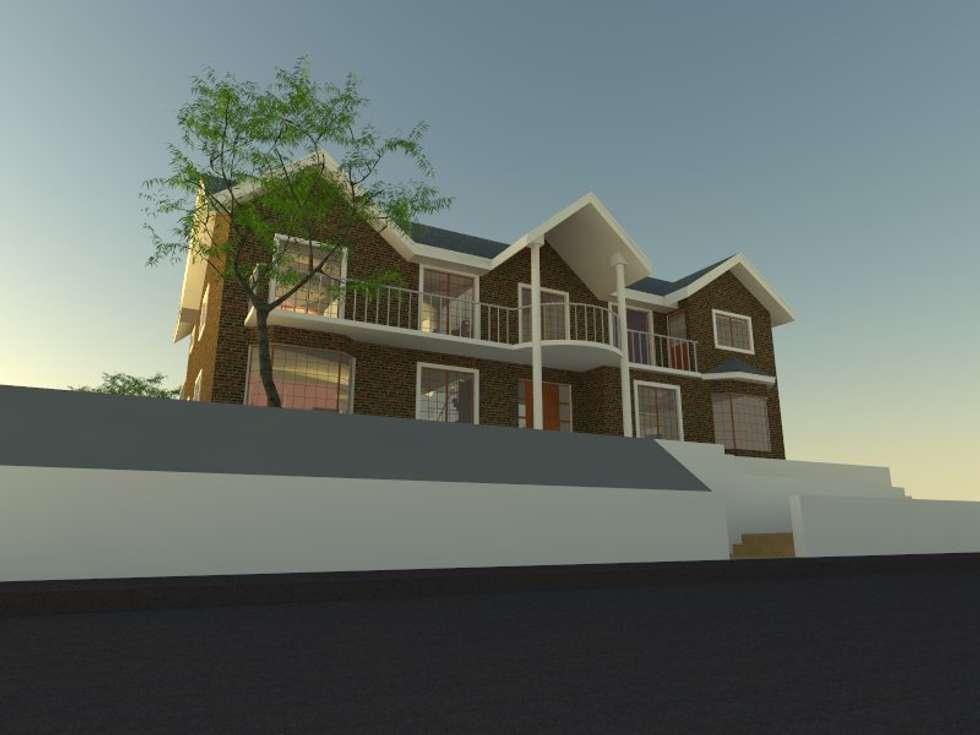 1: Casas de estilo moderno por OMD Arquitectos