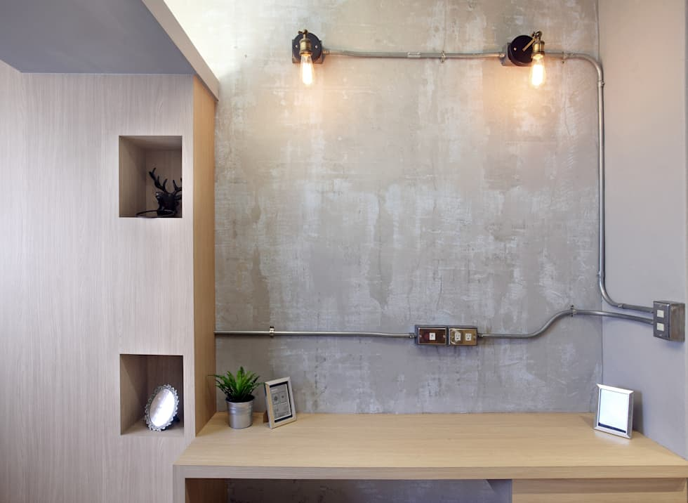 高雄衛武營公寓住宅 - 次臥房:  牆面 by 森畊空間設計