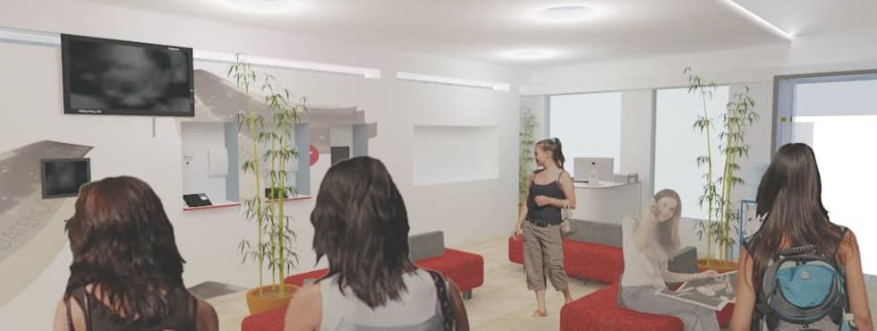 oficina comercial Chilquinta Quilpue: Oficinas y Comercios de estilo  por IDEAfactory