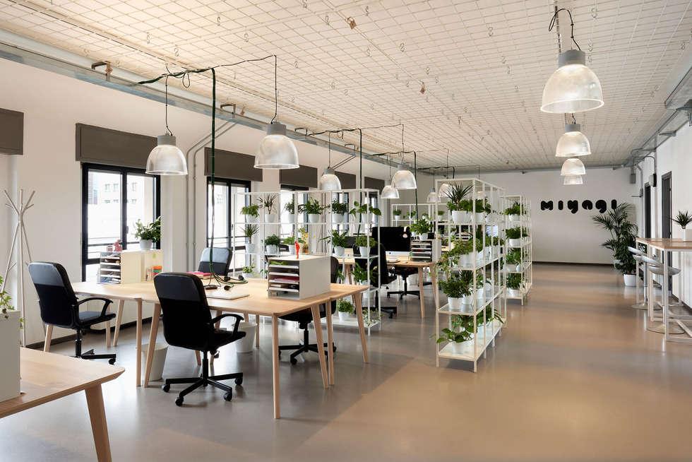 Piante Ufficio Open Space : Uffici miyagi u2013 open space: complessi per uffici in stile di marta